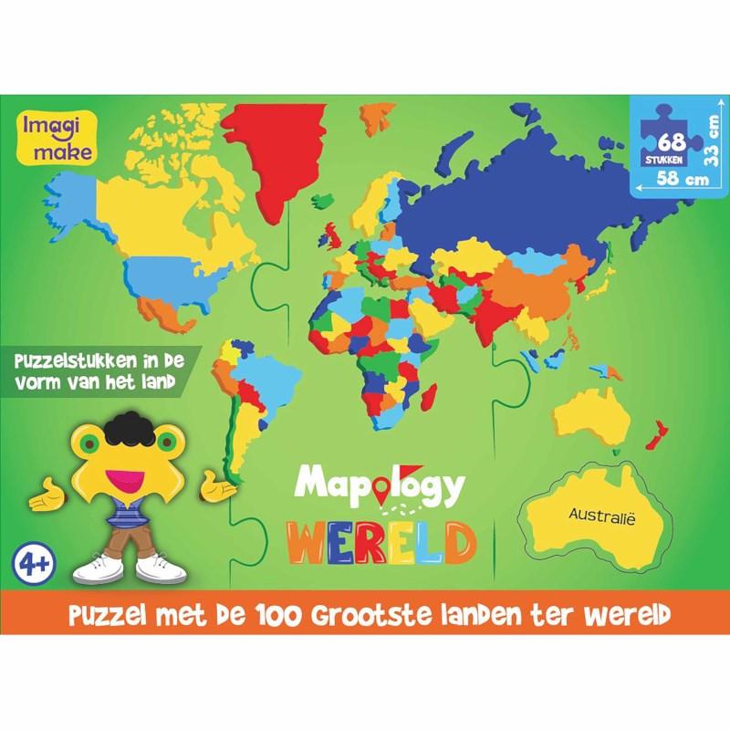 Wereld's grootste landen | Foam puzzel