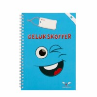 Veerkrachtboekje blauw | Ringband | 6-10 jaar | Gelukskoffer