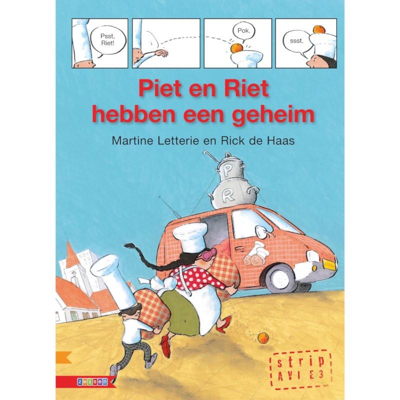 Avi- stripboek Piet en Riet hebben een geheim (avi E3)