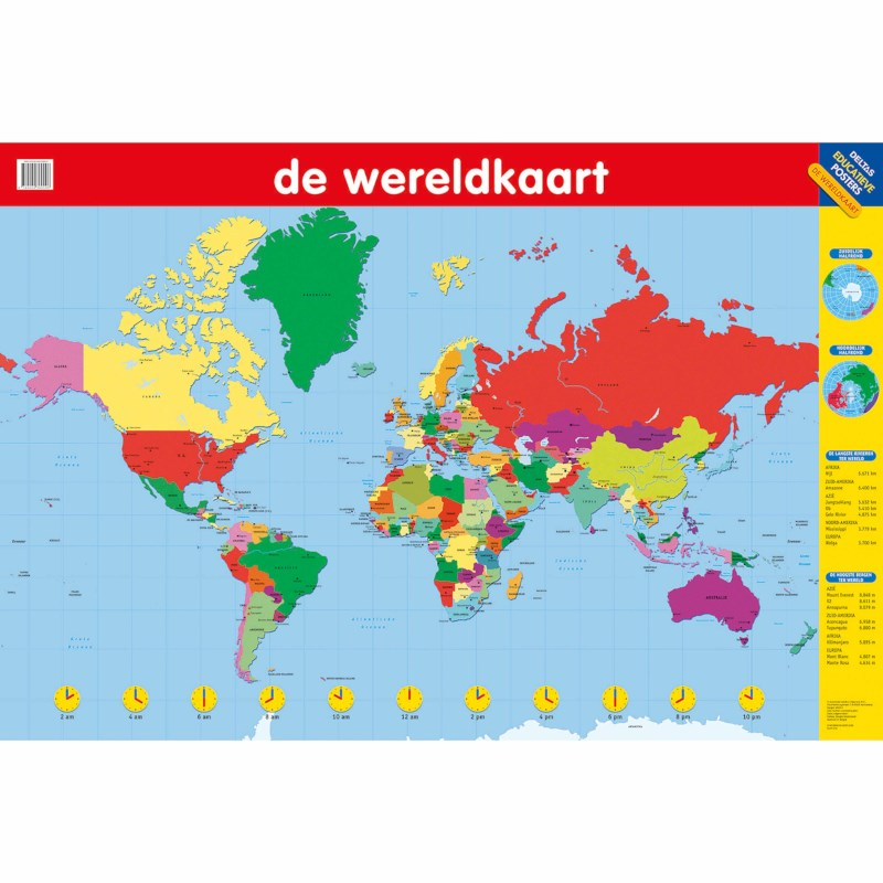 De wereldkaart   Poster