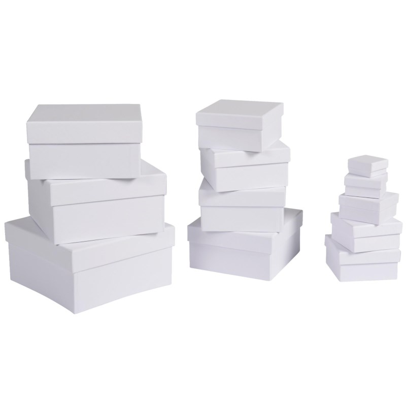 Bekend Doosjes | Wit karton | Vierkant assorti | 12 stuks kopen &LX48
