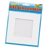 Fotolijstje blanco   16,6 cm x 16,6 cm   Wit karton