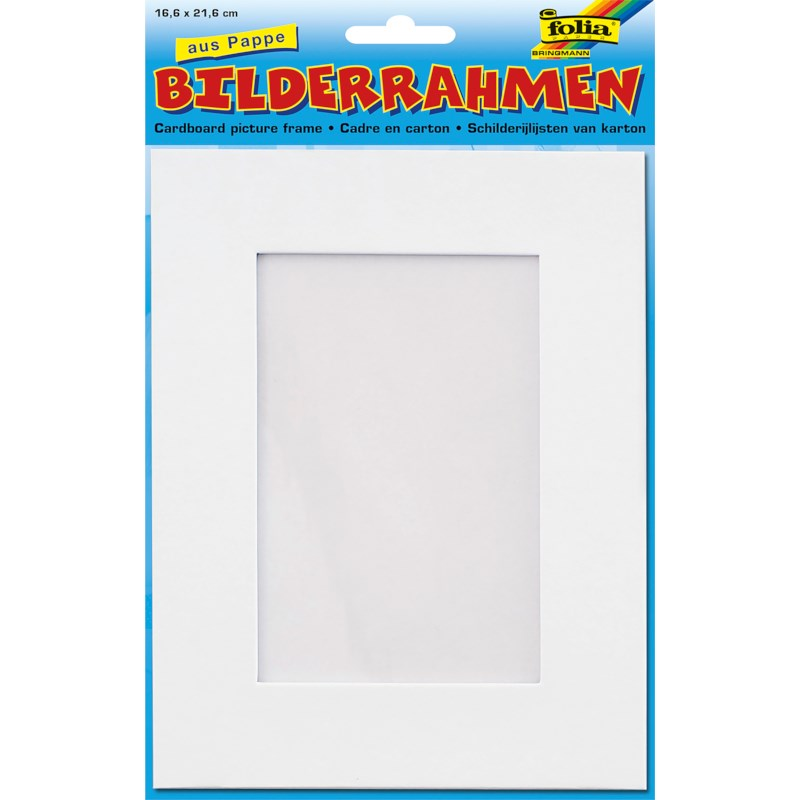 Fotolijstjes blanco | 16,6 cm x 21,6 cm | Wit karton