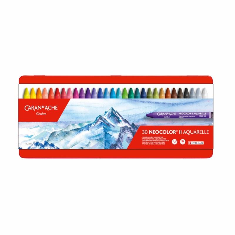 Waskrijt | Caran d'Ache Neocolor II | Blik à 30 kleuren