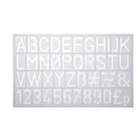 Letter-/cijfersjablonen | Helix | 30 mm