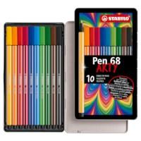 Viltstift | Stabilo pen 68 | 10 stuks, blik