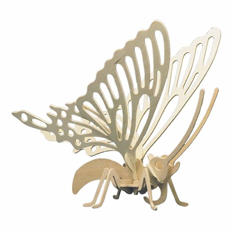 Houtbouwset gestanst | Vlinder