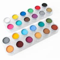 Watermake up | Grimas | Palet 24 x 2,5 ml