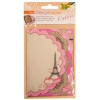 Designpapier Cutties | Parijs | 3 vel met 6 designs
