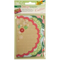 Designpapier Cutties | Kerstmis | 3 vel met 6 designs