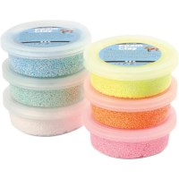 Foam Clay | Assortiment | 6 x 14 gram | Glitter