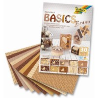 Motievenblok   Basics bruin   24 x 34 cm   30 vel gesorteerd