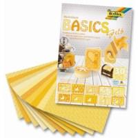 Motievenblok   Basics geel   24 x 34 cm   33 vel gesorteerd