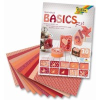 Motievenblok | Basics rood | 24 x 34 cm | 35 vel gesorteerd