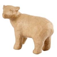 Papier-maché ijsbeer | Hoogte 12 cm