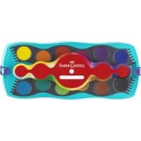 Waterverfdoos   Faber Castell   12 kleuren kliksysteem