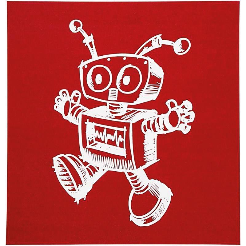 Sjabloon   Robot   vel 20 x 22 cm