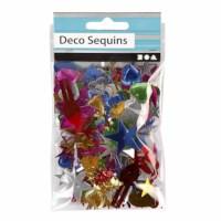 Pailletten mix | Kerst | Sterke kleuren | 8 - 50 mm | 35 gram