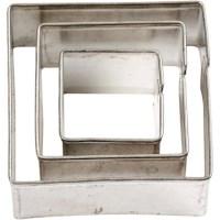 Uitstekers | Vierkant | Grootste maat 35 x 40 mm | Set van 3