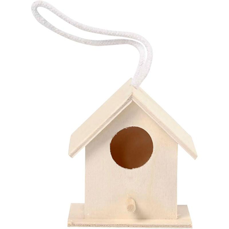 Vogelhuis   Populier   6 x 6 cm
