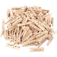 Mini wasknijpers | Berkenhout | 30 x 3 mm | Set à 100 stuks