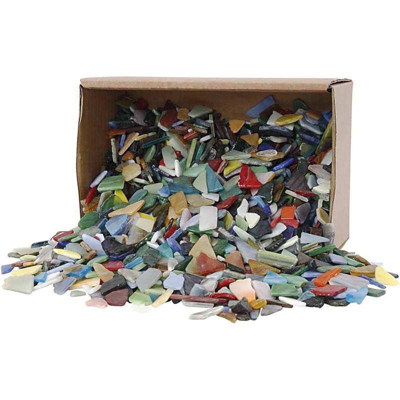 Mozaiek   Kleuren assorti   8-20 mm   Dikte 2-3 mm   2 kg