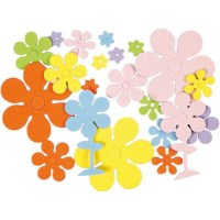 Foam bloem figuren EVA | assorti | Diameter 10 - 60 mm | 100 stuks