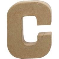 Papier-maché letter | C | Klein