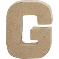Papier-maché letter | G | Klein