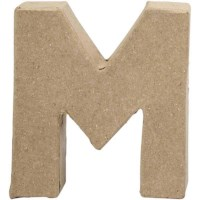 Papier-maché letter | M | Klein