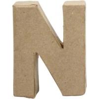 Papier-maché letter | N | Klein