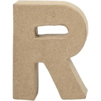 Papier-maché letter | R | Klein