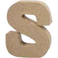 Papier-maché letter | S | Klein