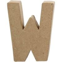 Papier-maché letter | W | Klein