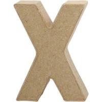 Papier-maché letter | X | Klein