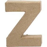 Papier-maché letter | Z | Klein