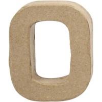 Papier-maché cijfer | 0 | Klein
