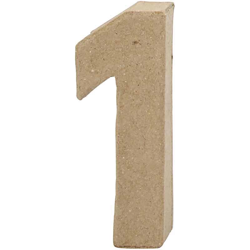 Cijfer 1 | Klein | Hoogte 10 cm | Dikte 2 cm | 1 stuk