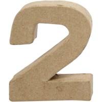 Papier-maché cijfer | 2 | Klein