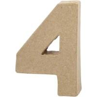 Papier-maché cijfer | 4 | Klein