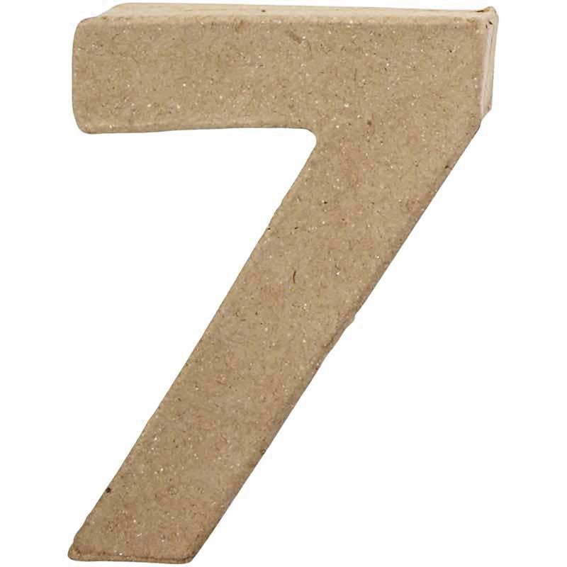Papier-maché cijfer | 7 | Klein