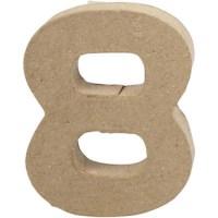 Papier-maché cijfer | 8 | Klein