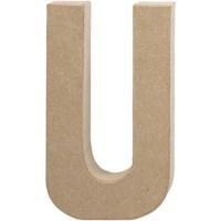 Papier-maché letter | U | Groot