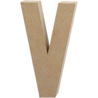 Papier-maché letter | V | Groot