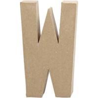 Papier-maché letter | W | Groot