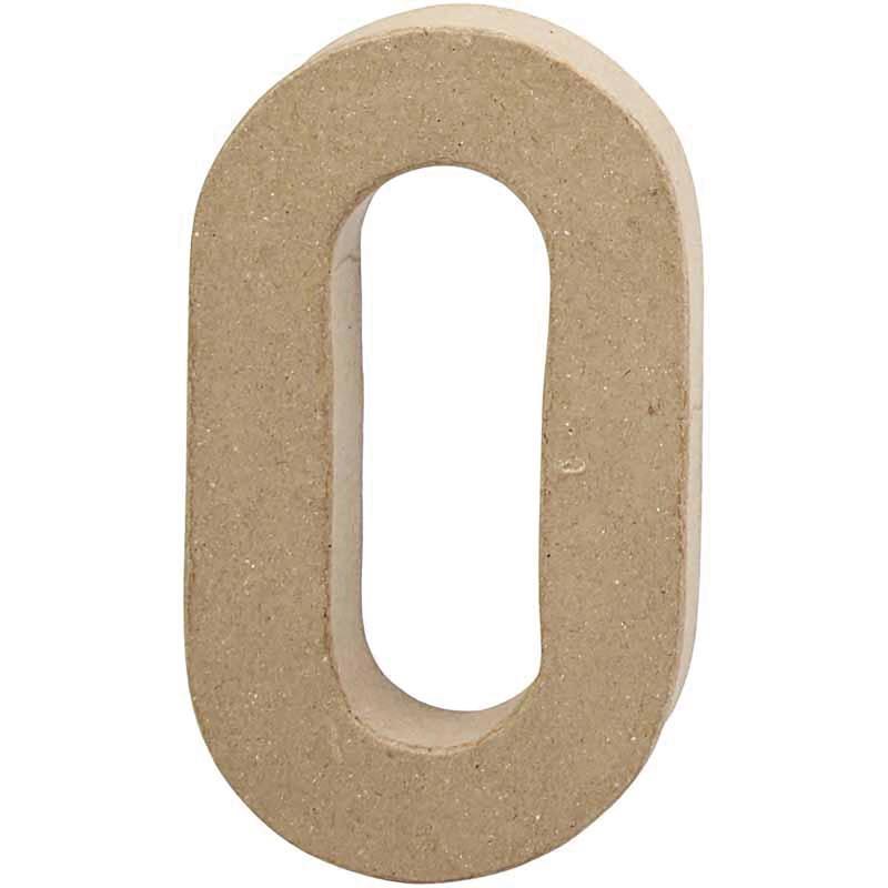 Papier-maché cijfer   0   Groot