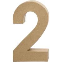 Papier-maché cijfer | 2 | Groot