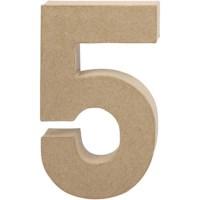 Papier-maché cijfer | 5 | Groot