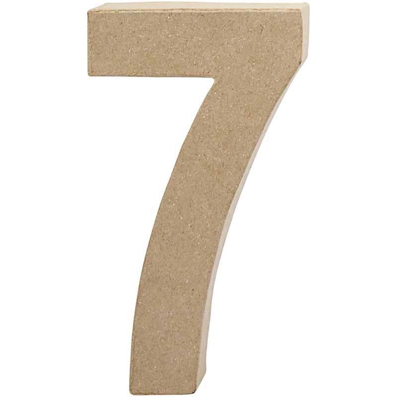 Papier-maché cijfer | 7 | Groot
