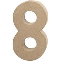 Papier-maché cijfer | 8 | Groot